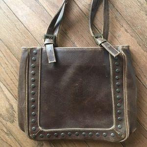 boho rustic brown bag (handbag purse)